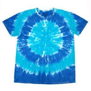 Oceana Custom Spiral Tie Dye Crew Buzz T-Shirt M